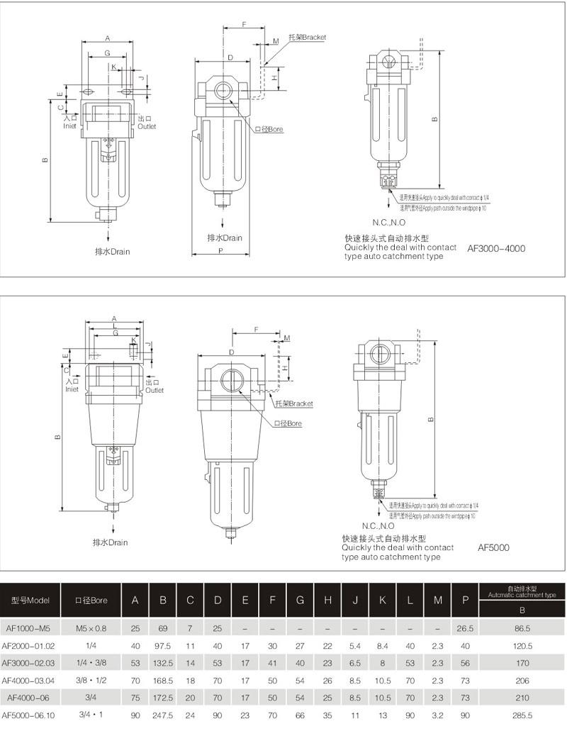 af2000-02d空气过滤器